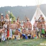 přerod z bledých tváří na indiány dopadl skvěle :-) nejmenší indiáni
