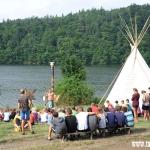 ranní motivační nástup Irokézkých bojovníků