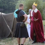 večerní nástup - král Zikmund přichází vyjednávat